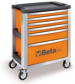 Beta C39 O/6 Mobile Roller Cab With Six Drawers (Orange)